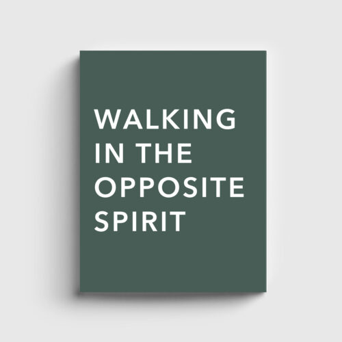 Walking in the Opposite Spirit